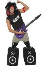 Unser 80er Rockstar Popstar Kostüm schwarz-weiss. Aus der Kategorie 80er Jahre Kostüme. Dieses Outfit ist ein echter #Partyknaller. Es fällt besonders durch seine Boxen-Schuhe auf, die absolut einzigartig sind. In diesem 80er Jahre Kostüm rocken Sie einfach jede #Party und werden sich vor Groupies kaum retten können.