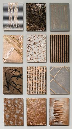 M Clark Collective Chemistry Au Ag Cu Gold Metallic Abstract Paintings Set M Clark Abstract Painting Collective Chemistry Au Ag Cu Gold Metallic Set 2018 Art Texture, Texture Painting, Ink Painting, Art Diy, Diy Wall Art, Diy Canvas Art, Wall Canvas, Textured Canvas Art, Gold Art