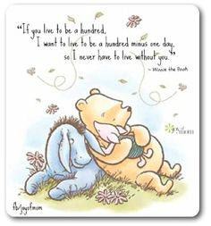 Another representation of the importance of friendship. Pooh loves his friend's…