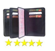 Ein Hochwertiges Kreditkartenetui mit 3 Sichtfenster und 2 Einsteckfächer. Kaufen sie das Ausweisetui noch heute und überzeugen sich selbst von der Qualität.