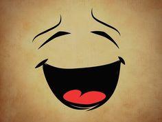 Das Lachen.  Er lacht. Sie lacht.  Sie lachen (wenn es mehrere Personen sind).