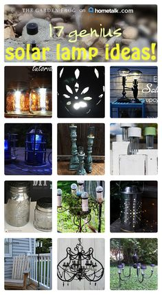 MAKE my own solar lights--out of things I already own? Ummm, yes please! Great use of mason jars, too!
