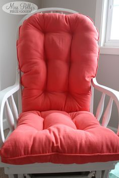 Nice Coral Glider/rocking Chair Cushions Custom Made By MissPollysPieceGoods  Https://www.