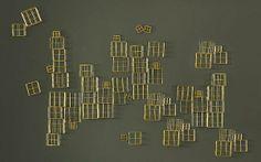 Wanddeko fürs Esszimmer – coole Wandgestaltung für Ästheten - Wanddeko fürs Esszimmer golden geometrisch