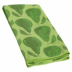 """Add a charming touch to your kitchen with this lovely dishtowel, showcasing a pear motif.    Product: Set of 2 dishtowelsConstruction Material: Polyester and polyamideColor: GreenDimensions: 16"""" x 24"""""""