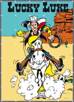"""Lucky Luke is a Belgian comics series created by Belgian cartoonist Maurice De Bevere, better known as Morris, and for one period written by René Goscinny. Set in the American Old West, it stars the titular character, Lucky Luke, the cowboy known to """"draw faster than his shadow"""". Along with The Adventures of Tintin and Asterix, Lucky Luke is one of the most popular and best-selling comic-book series in continental Europe."""