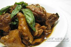 Stewed Chicken in Three Cups Sauce三杯雞
