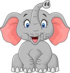 safari bebe: Dibujos animados elefante lindo que se sienta Vectores