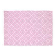 Baby Pink, White Quatrefoil 5u0027x7u0027Area Rug