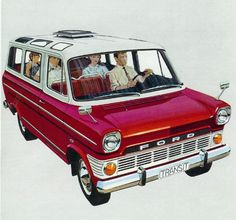 Ford's answer to the VW Bus, The Transit *This is the 1st mini van I ever saw besides the VW bus. I saw it while stationed in Germany in the mid '70's. -sgs