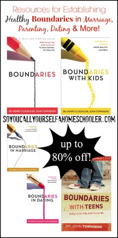 Establishing Boundaries in Marriage, Parenting, and Dating :: Carlie shares some great resources to learn how to establish healthy boundaries in marriage, boundaries with kids, boundaries in dating, and more! :: So You Call Yourself a Homeschooler?™