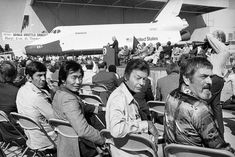Originally slated to bear the name Constitution, the first space shuttle to be built was dubbed Enterprise following a write-in campaign from Star Trek fans. Above, cast members from the science-fiction show attend the shuttle's rollout ceremony in Palmdale, California, on September 17, 1976.