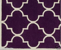 Blair Scroll Purple Handmade Persian Style Woolen Area Rug Carpet