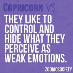 Capricorn Facts - I try, but am not very successful
