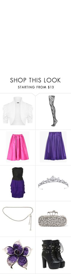 """""""Raven Queen"""" by onceharrypotterdisneyfan ❤ liked on Polyvore featuring WearAll, Topshop, J.Crew, Reiss, Chanel, Alexander McQueen and ever"""