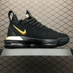 7413cd77e9b Nike LeBron 16 I m King Black Gold To Buy BQ5970-007-3