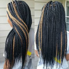 Black Senegalese Twists With Blonde Highlights - August 03 2019 at Crochet Senegalese Twist, Havana Mambo Twist Crochet, Senegalese Twist Styles, Senegalese Twist Hairstyles, Jumbo Sengalese Twists, Crochet Twist, Afro Blonde, Blonde Box Braids, Long Hairstyles