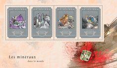 Post stamp Guinea GU 14612 a  Minerals (Amethyst, {…}, Biotite)