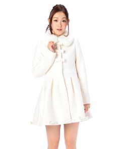 Liz Lisa white ribbon coat