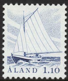 """Åland 1,10 mk 1984 """"Sailing Boat"""" [Facit 3, Mi 3, AFA 3, SG 4, SC 5]"""
