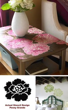 stencils DIY home decor table top  Or vanity table top , high gloss finish
