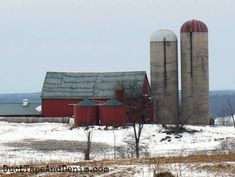 The Beautiful Old Barns of Ontario, Canada in the Winter