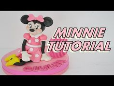 how to make MINNIE CAKE TOPPER fondant - tutorial topolina in pasta di zucchero torta - YouTube