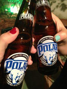 Cerveza fria Polar,Venezuela.