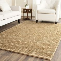 Shop for Safavieh Hand-knotted Vegetable Dye Chunky Beige Hemp Rug (6' Square). Get free shipping at Overstock.com - Your Online Home Decor Outlet Store! Get 5% in rewards with Club O!