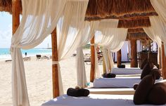 Awesome Beach Cabana's. Contact Inspired Voyages to begin designing your perfect vacation, honeymoon, or destination wedding. www.inspiredvoyage.com email:  jenifer@inspiredvoyage.com 309-696-8144 or like us on facebook at www.facebook.com/inspiredvoyages