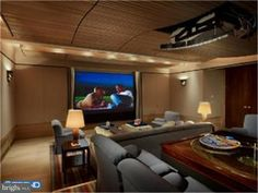 Fort Washington, Home Theater, Theatre, Ceiling Height, Home And Family, Furniture, House Ideas, Fox, Home Decor
