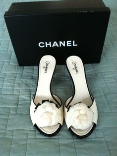 Chanel shoes for that surprise under your wedding gown. #bridalstyle #couture