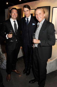 Ben Elliot,John Ridding and Geoffrey Kent at Vertu Ti launch