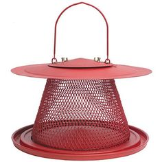This Red Cardinal Hanging Bird Feeder adds style and function to any outdoor area. Its large feeding area hosts a wide variety of birds and is the perfect focal point for any backyard birding experience! Bird Feeders Amazon, Bird Feeders For Sale, Best Bird Feeders, Wild Bird Feeders, Hanging Bird Feeders, Black Oil Sunflower Seeds, Squirrel Proof Bird Feeders, Glass Hummingbird Feeders, Cardinal Birds