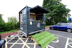 10ft New Bespoke Coffee Shop Container on Bespoke Built Trailer