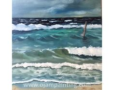 Paintings and exhibitions of OJAM Waves, Study, Paintings, Oil, Outdoor, Outdoors, Paint, Painting Art, Painting