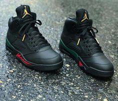 promo code 19760 62999 Air Jordan (Retro) 5 Black Gucci Gucci Jordans, Jordans Sneakers, Sneakers  Nike