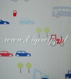 047. Little Star Auto/Vrachtwagen/Kranen Tractor behang