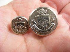 2 vintage Pinkerton detective agency uniform buttons   SOLD $4.99