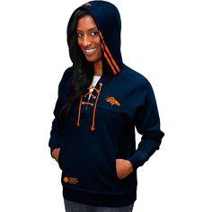 Pro Line Denver Broncos Womens Yukon Vale Full Zip Vest - Orange ...