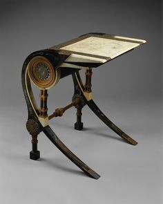 "opus53: "" Carlo Bugatti, Desk, Walnut, copper, pewter, vellum, ca. 1902 """