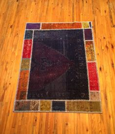 Patchwork Turkish Carpet  Vintage Rug by RugToGo on Etsy