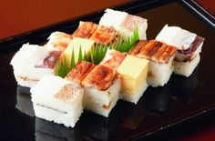 Japanese food: Oshi-suhi (sushi pressed in box or mould)