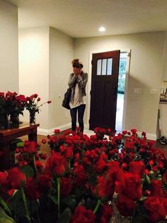 to walk into a room full of flowers that were put there just for me would be the most amazing thing ever