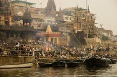 The Manikarnika Ghat, or better known as the burning ghat is the place where Hindus come to be laid to rest through the purification of fire.