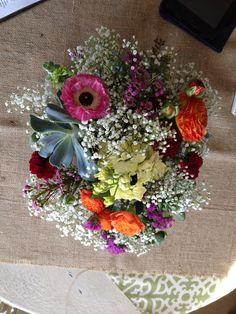 Pretty wedding centerpiece by la petite fleur, Glendora CA