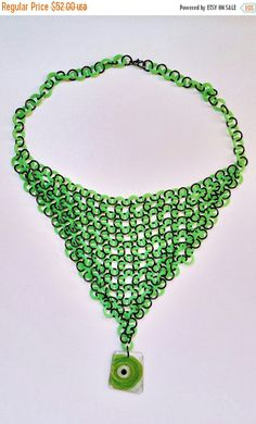 Check out this item in my Etsy shop https://www.etsy.com/listing/485412273/moving-sale-neon-green-mermaid-necklace