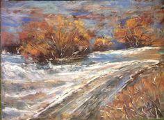 Prima neve, pastello su carta Canson mi teintes