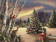 Poemas De Navidad | Банк Обоев: обои Новогодний лес, фото ...