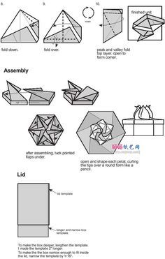 Flores caja hexagonal tutorial 2